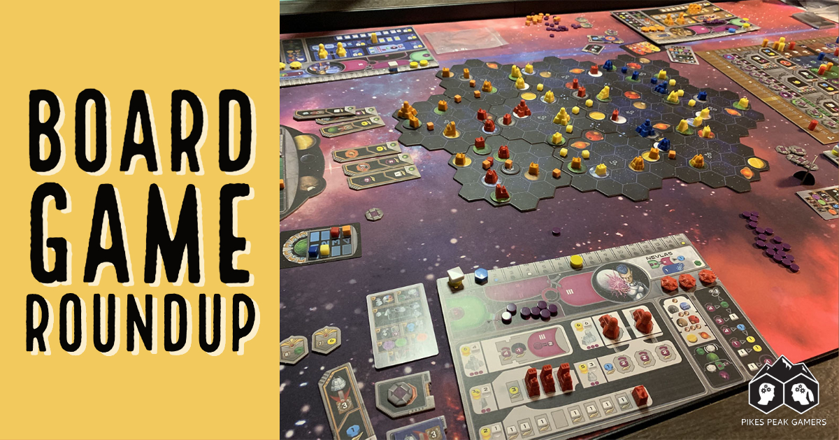 Board Game Roundup: Smiley Reviews 5 Newly Played Games